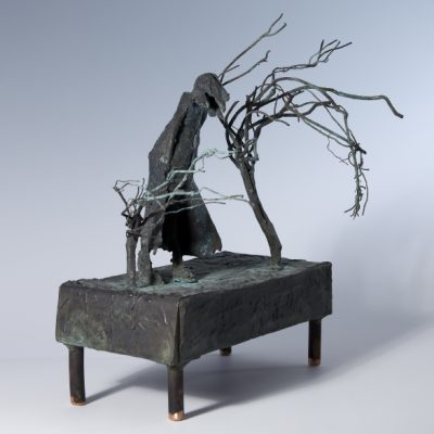 A walk on the wild side. 2009.   bronze unique.  35 x 28 x 22cm.