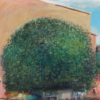 The big sweet smelling fig tree. 2015.   mixed media on paper.  57 x 62cm.