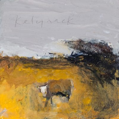 Kelynack. March 2011.    mixed media on board.      20.5 x 20.5cm.