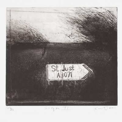 Sign II. 2011.    etching and drypoint.     plate size 22 x 22.5cm.       edition of 30.