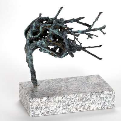 Winter thorn 2018.   bronze unique on granite base.  27 x 24 x 15cm incl base.
