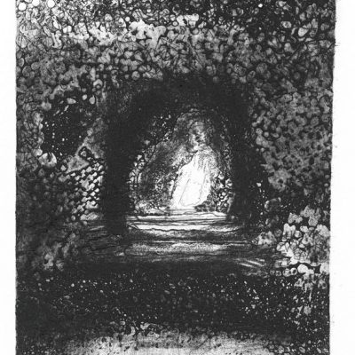 Through. 2020.   etching.  edition of 30. 19.5 x14.5cm.